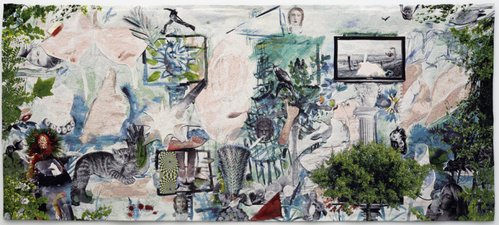 Laure Provost, Swallow me, From Italy to Flander, a tapestry, 2015. 200 x 462 cm. Image courtesy of MOT International