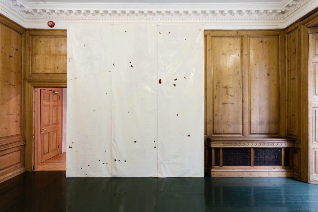 Piotr Lakomy Untitled (curtain), 2015 Aluminium honeycomb