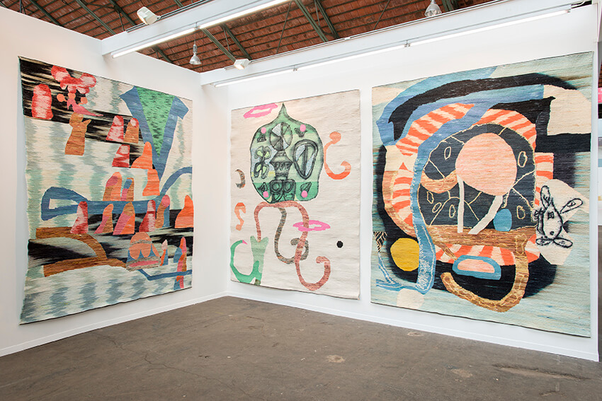 Yann Gerstberger, Installation view at Art Brussels 2016. Image courtesy of Sorry We're closed