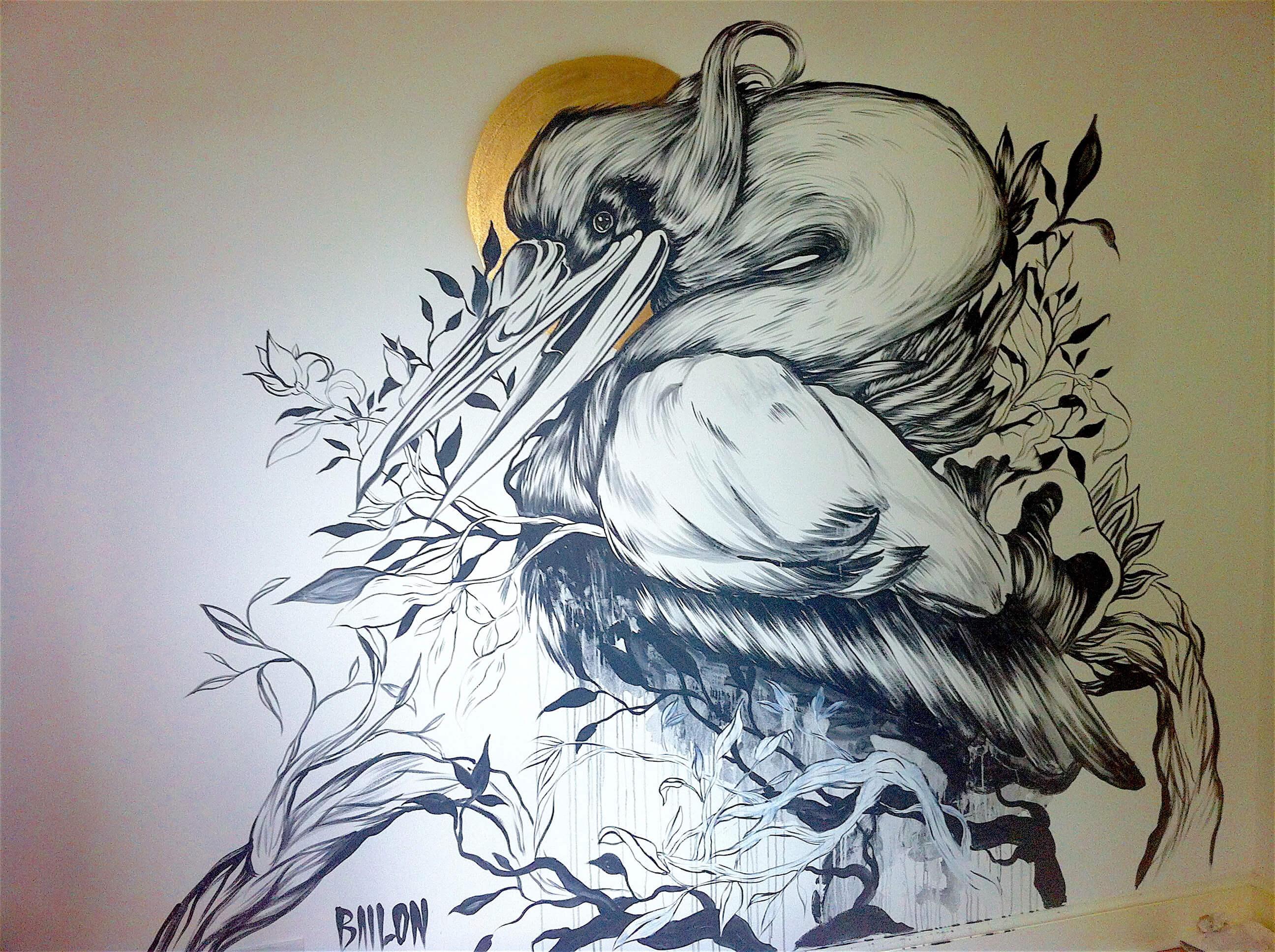 Mateus Bailon, mural commission, street art, painting, Inigo Art Advisory