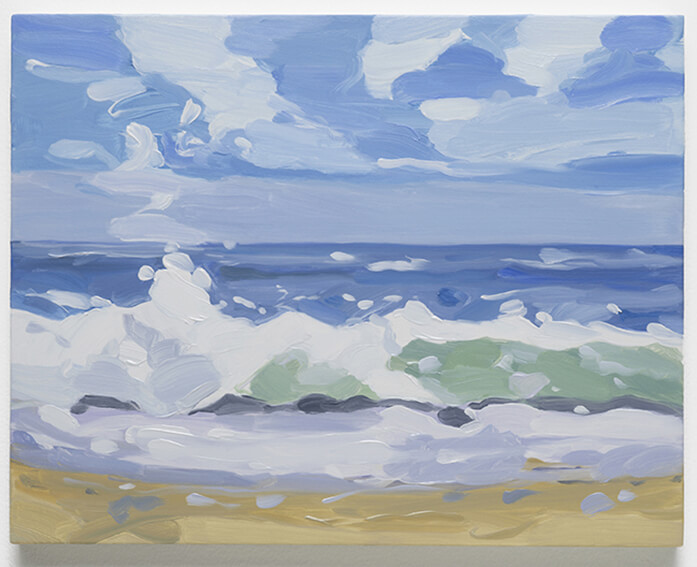 Maureen Gallace, Beach Wave October, 2016
