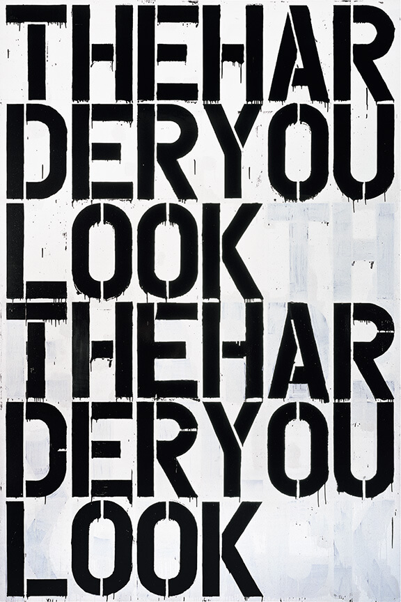 Christopher Wool, Untitled, 2000 The Harder You Look