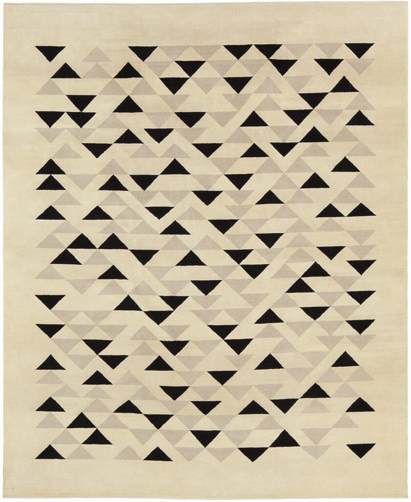 Annie Albers DRXVII rug. Produced by Christopher Farr in an edition of 10 in association with the Josef & Anni Albers Foundation.