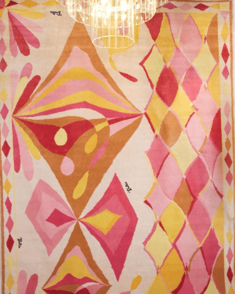 Emilio Pucci Rare carpet woven in Argentina in the late 60s