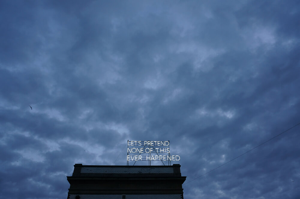 Tim Etchells, Lets Pretend, 2014 Image Courtesy of the Artist