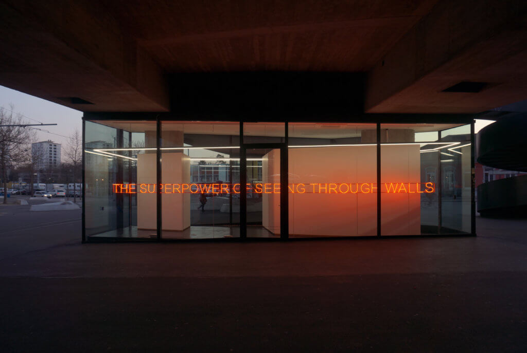 Tim Etchells, Seeing Through Walls, 2017 Image courtesy of the artist
