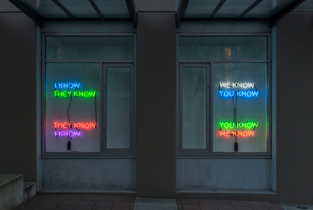 Tim Etchells, Who Knows, 2014 Image Courtesy of the Artist
