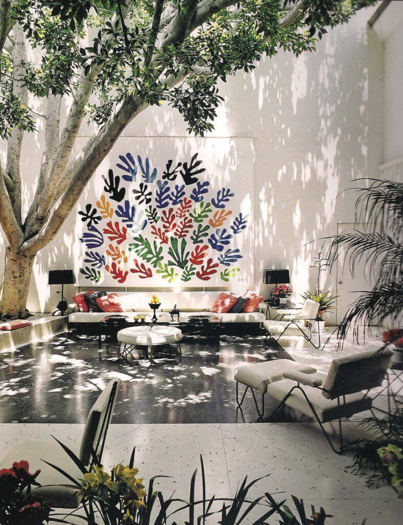 Francis Brodi House, with Henry Matisse ceramic mural, Los Angeles.