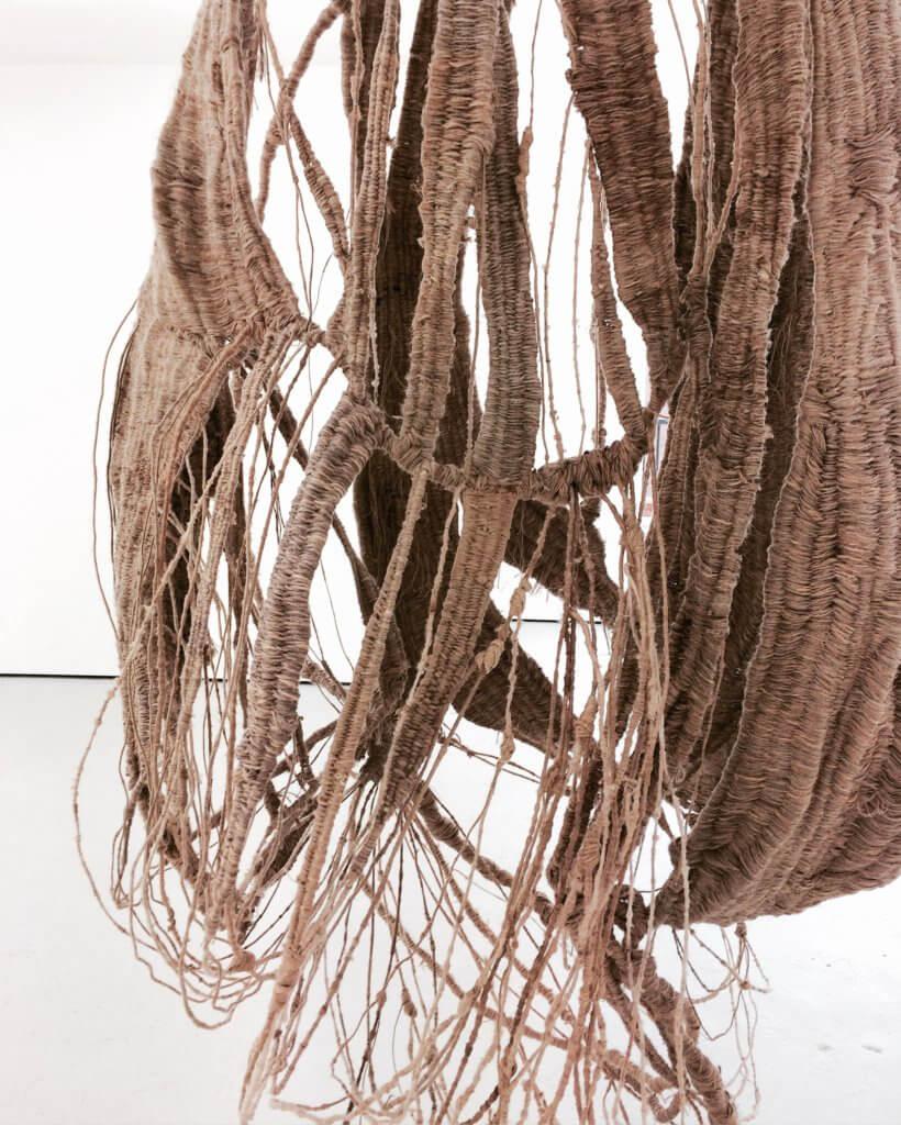 Soojin Kang, detail of Pod 2, 2017 Hand-woven sculpture, craft