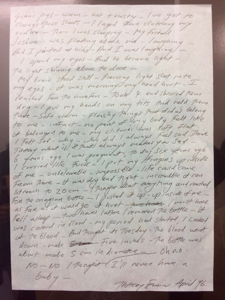 Tracey Emin, Framed letter, 1996