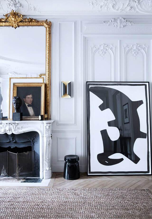 Art Interior Design ideas, art leaning on. Image credit Birgitta Wolfgang Drejer for Yatzer
