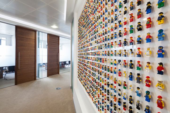 LEGO People Wall at Qubic Tax, London