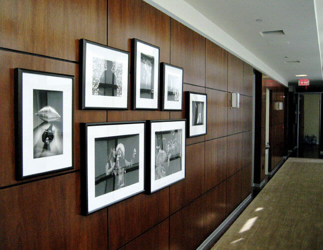 Black and White Photographs in an office space, Los Angeles