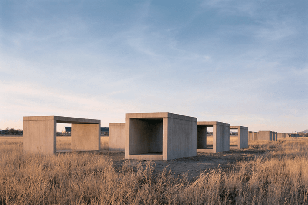 Donald Judd, 15 Untitled works in concrete, 1980-1984, The Chinati Foundation,