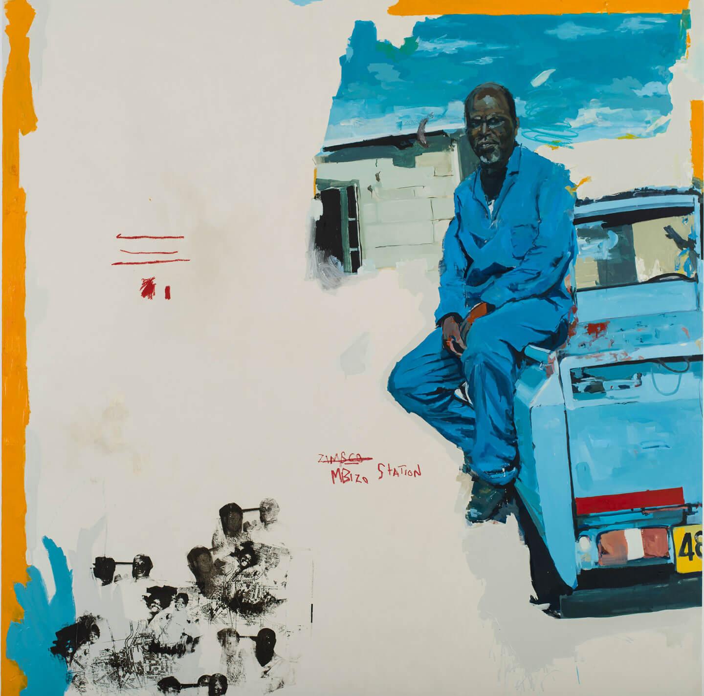 Kudzanai-Violet Hwami, Mbizo Station, 2017, painting